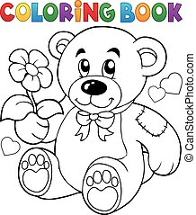 Coloring book Valentine illustration.