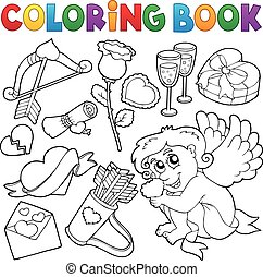 Coloring book Valentine theme 5