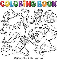 Coloring book Valentine theme 5