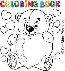 Coloring book Valentine theme 9 - eps10 vector illustration.