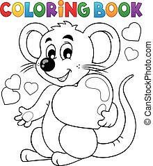 Coloring book Valentine topic 1 - eps10 vector illustration.