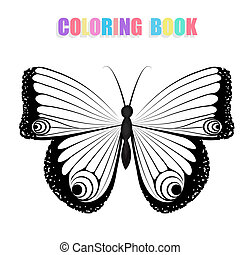 Coloring book with butterflies