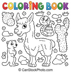 Coloring book with cute animals 4