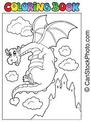 Coloring book with dragon 2