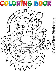 Coloring book with Easter theme 8