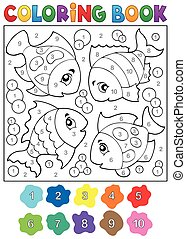 Coloring book with fish theme 3