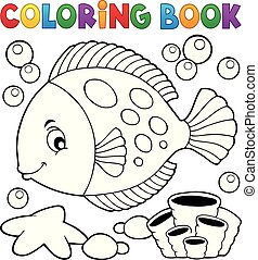 Coloring book with fish theme 7
