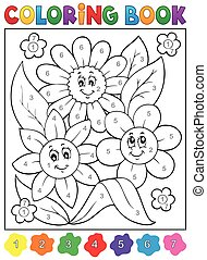 Coloring book with flower theme 9