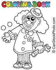 Coloring book with happy clown 8