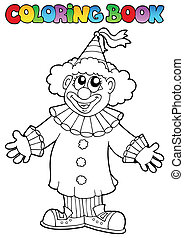Coloring book with happy clown 9