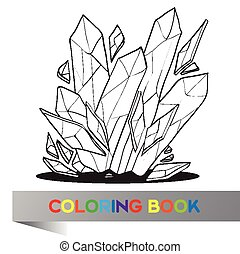Coloring book with image of crystal