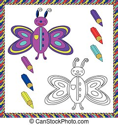 Coloring Book with insects