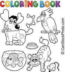Coloring book with pets 4