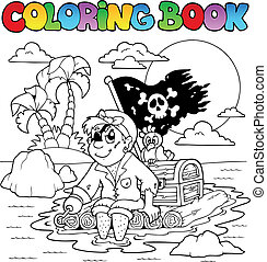 Coloring book with pirate topic 2