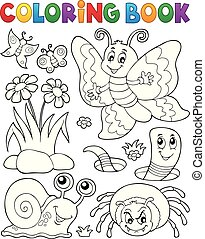 Coloring book with small animals 4