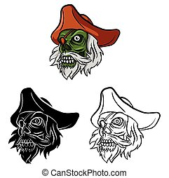 Coloring book Zombie character