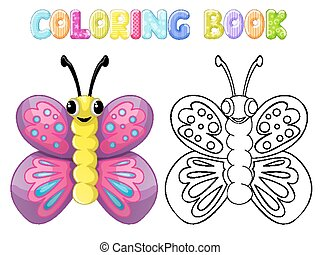 Coloring butterfly