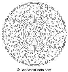 Coloring Butterfly Round Ornament