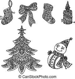 Coloring Christmas Set