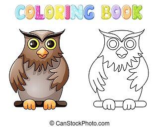 Coloring cute owl