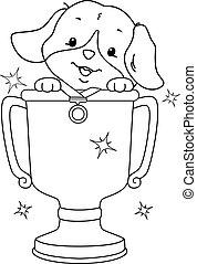 Coloring Dog Contest Winner Illustration