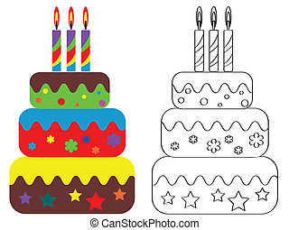 Coloring for children , birthday ca