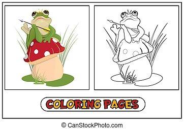 Coloring frog princess