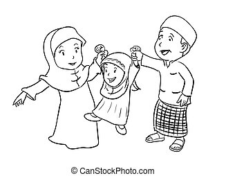 Father and daughter coloring page. Black and white cartoon ...