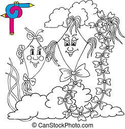 Coloring image kites