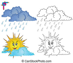 Coloring image weather 4