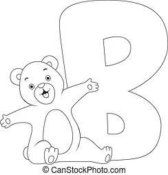 Coloring Page Illustration Featuring a Bear
