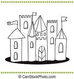 coloring page - castle
