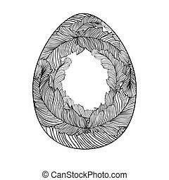 Coloring page easter egg for adults.