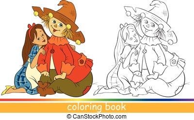 Coloring page - Fairytale characters. Coloring book
