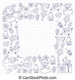 Magic castle coloring page. Coloring page with magic fairy ...