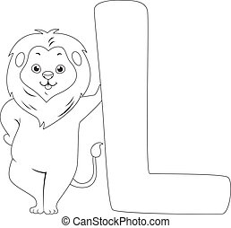 Coloring Page Illustration Featuring a Lion