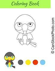 Coloring Page Little Sitting Baby Beaver Coloring Book For Kids Educational Activity For Preschool Years Kids And Toddlers Canstock