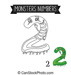 Coloring page monsters number 2