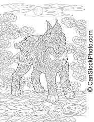 Coloring page of wildcat - Colouring picture with wildcat. ...