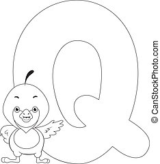 Coloring Page Quill - Coloring Page Illustration Featuring a...