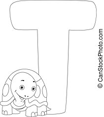 Coloring Page Turtle - Coloring Page Illustration Featuring...
