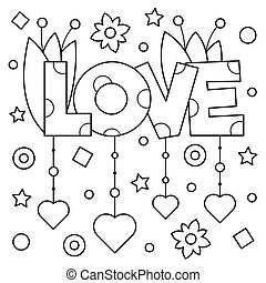 Coloring page. Vector illustration.