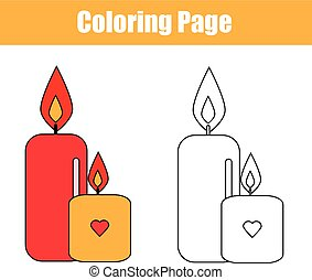 Coloring page with candles