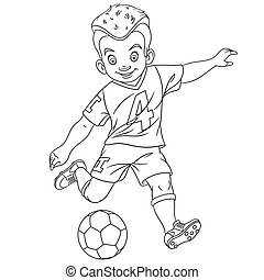 coloring page with football player