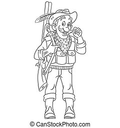coloring page with hunter