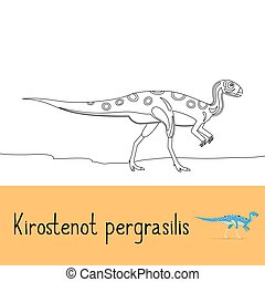 Coloring page with Kirostenot pergrasilis dinosaur