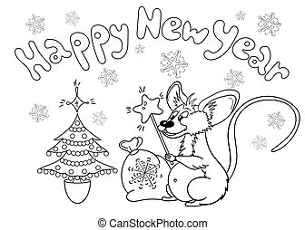 Coloring page with mouse
