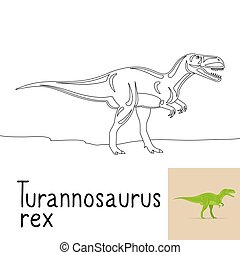 Coloring page with Turannosaurus rex
