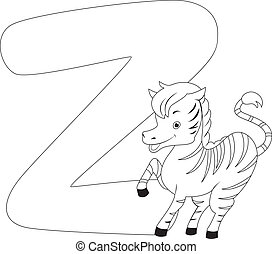 Coloring Page Zebra - Coloring Page Illustration Featuring a...