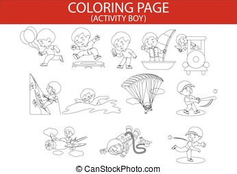 COLORING PAGE(ACTIVITY BOY